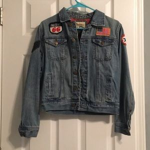 Forever 21 Jean jacket with american patches